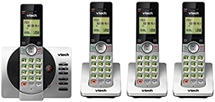 Four VTech DECT 6.0 Handset Cordless Phones with ITAD, CID, Backlit Keypads and Screens, Full Duplex Handset Speakerphones