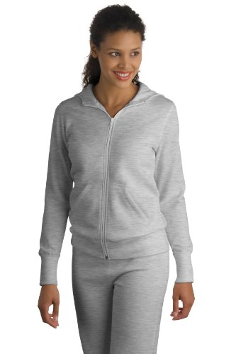 Sport-Tek Ladies Full-Zip Hooded Fleece Jacket, 3XL, Athletic Hthr