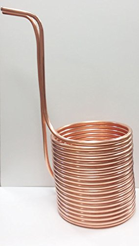 """Quick Chill Home Brew Copper Immersion Wort Chiller, 50' X 1/2"""""""