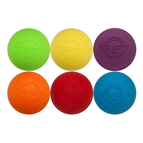 Velocity Multi Color Lacrosse Balls - 6 Balls