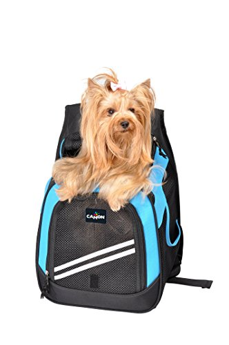 Pooch Pouch Backpack Dog Carrier Adjustable Tote,Size Medium,12.6''W x 9.5'' Deep x 18''H, 20 lb Capacity by Camon-Verona,Italy