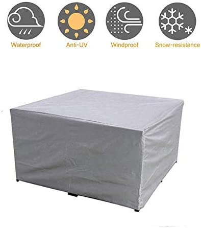 ALGWXQ キューブガーデン家具ガーデンテーブルカバー防塵防水屋外テーブルと椅子の保護ターポリン、2色、29のサイズをカバー (Color : Gray, Size : 240x240x85cm)