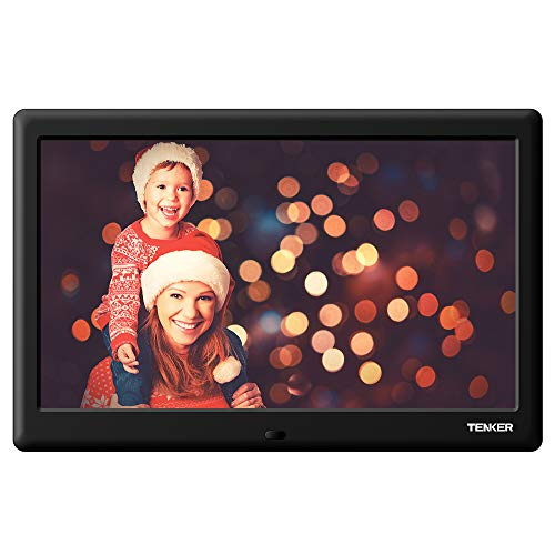TENKER 10-inch HD Digital Photo Frame with Auto-Rotate