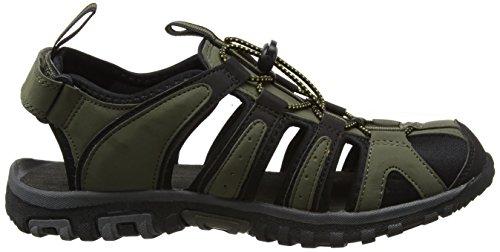 Hi-Tec Cove Sandal, Sandalias de Senderismo para Hombre Verde (Olive Night/black/gold 061)