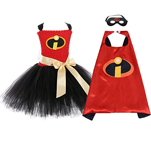 O'COCOLOUR Halloween Incredible Costumes for Toddler Girls Role Play Superhero Violet Tutu Costume Size 4]()