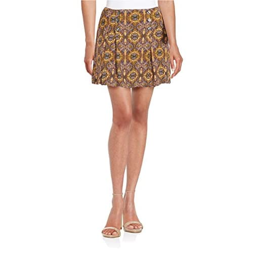 Top Free People Womens Lovers Lane Printed Pleated A-Line Skirt supplier