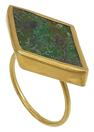 Pippa Small Bague Plaqué Or Triangle Autre Vert Femme - Taille 50 (15.9)