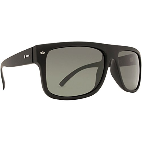 Dot Dash Sidecar Adult Sunglasses, Black Satin/Grey ()