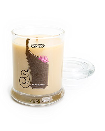 Cinnamon Vanilla Candle - 6.5 Oz. Highly Scented Beige Jar Candle - Bakery Candles Collection