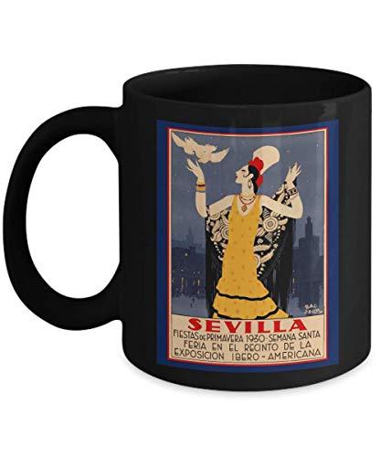 Sevilla - Seville, Spain Poster for the 1930 Holy Week Spring Festival - Ceramic Coffee Mug ()