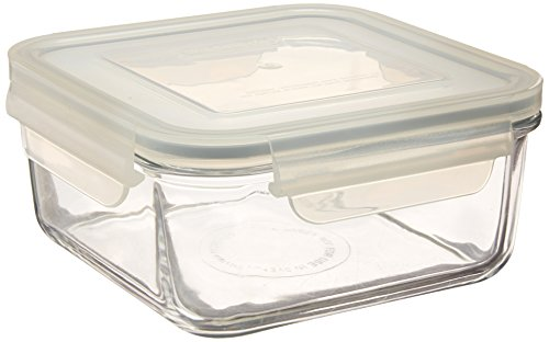 Kinetic 01412 Go Green Glasslock Square Glass Food Storage Container, - Set Glasslock Green Go