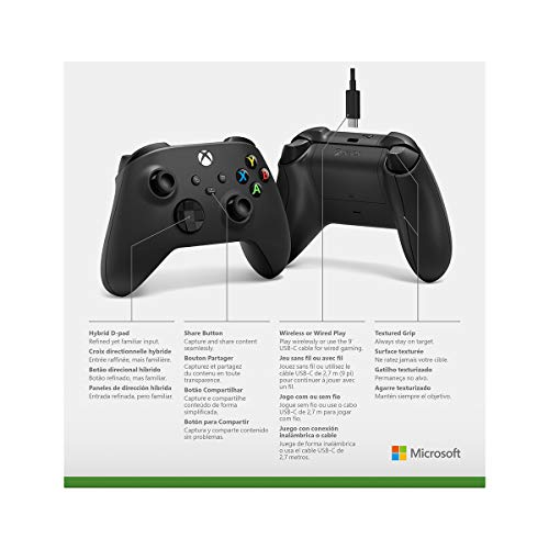 Microsoft Xbox Wireless Controller + USB-C Cable - Xbox