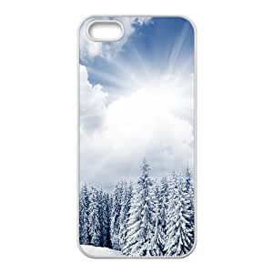 Heavy Winter Sunshine iPhone 5 5s Cell Phone Case White Protect your phone BVS_632236