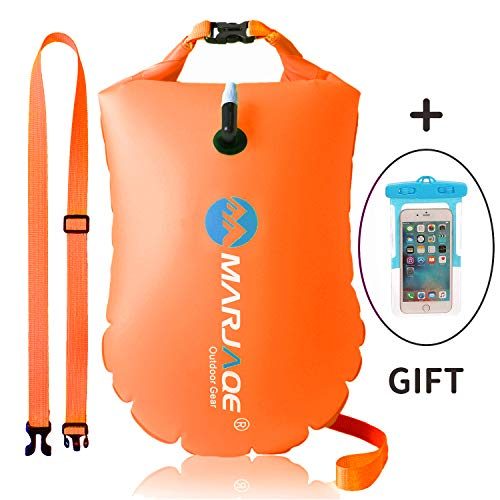 dec29ca8036c GKCI Swim Buoy Swim Safety Float and Drybag Highly Visible Swim Bubble for  Open Water Sea Swimmers Triathletes