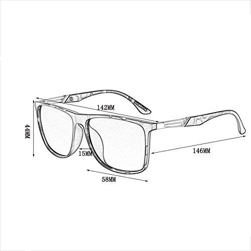 para Driving Mirror Safety C Driver Sol Gafas Hombre Color Retro Sol A Frame de de Driver Sol de Gafas Big ultraligeras Gafas qvTSzT
