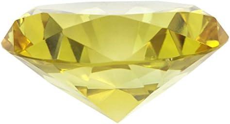 [해외]팬시 80 mm 크리스탈 유리 다이아몬드 Paperweight / Fancy 80mm Crystal Glass Diamond Paperweight