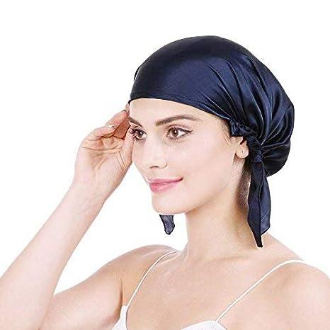 Bonnet de Nuit en 100% Soie Chapeau Bonnet De Sommeil 19 Momme Femme Bonnet  Coiffure