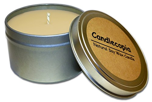 Candlecopia Nag Champa Strongly Scented Sustainable Vegan Natural Soy Travel Tin Candle