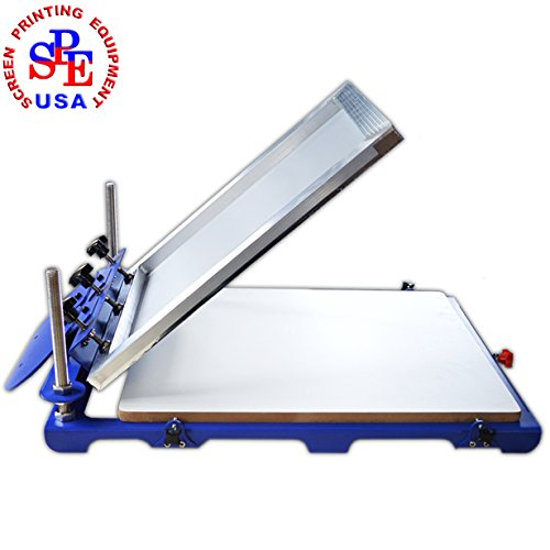 New Type 1 Color 1 Station Screen Printing Press Screen Printer Machine Screen Press Micro Adjust 20x24 Pallet by Screen Printing Machine Series