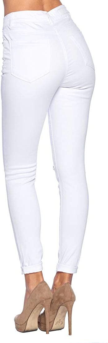 BLUE AGE Women's Butt-Lifting Skinny Jeans Jp1109h_white