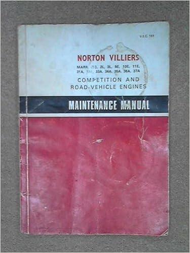 Maintenance manual: Norton Villiers Mark 31C, 2L, 3L, 9E