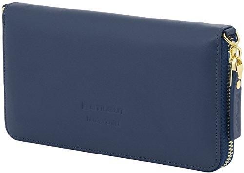 et Wallet Smart bandoulière cuir en Pochette housse sac à sac Foncé Bleu portable Croco Nappa rouge StilGut 4q8A8