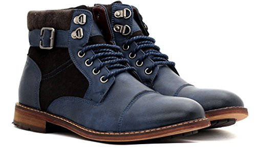 Botas Zapato Marino Chelsea Azul Hombre Número Hebilla Cremallera Con Casual Cordones Motero Tobillo Al xggfw06qR