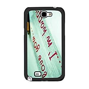 New Fashion Mint Green Love Quotes Personalized Hard Plastic Case Cover for Samsung Galaxy Note 2 N7100 Protective Phone Case Skin