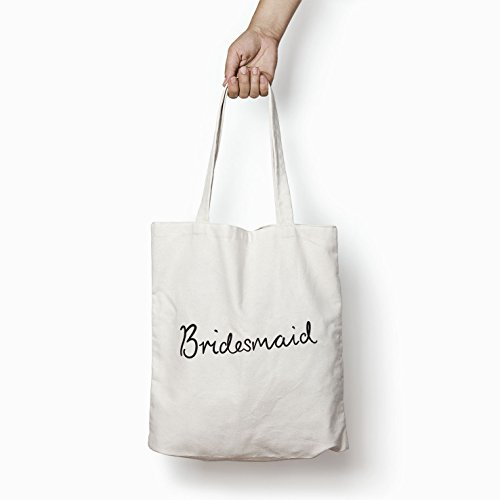 Tote White Cotton Bag Gifts Shopper Printed Bridesmaid Bags Women For SwBXqSzr