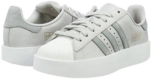 Grey W Solid Cassé Femme Basses Sneakers mid Blanc Grey ftwr White lgh S14 Bold Adidas Superstar 7wCqFF