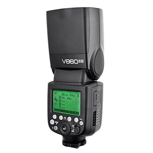 Godox V860II-S High-Speed Sync GN60 1/8000 2.4G TTL Li-ion Battery Camera Flash Speedlite Light Compatible for Sony Camera + USB LED
