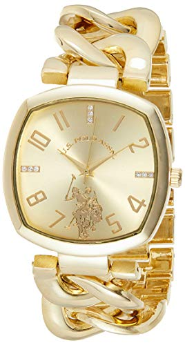 U.S. Polo Assn. Women's Analog-Quartz Watch with Alloy Strap, Gold, 11 (Model: USC40250AZ)