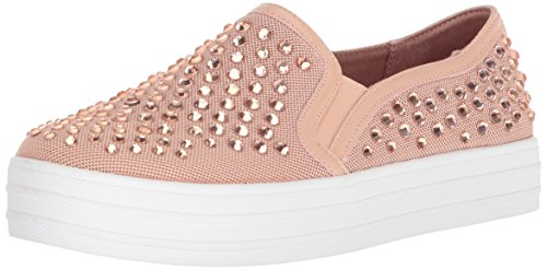 Skecher Street Women's Double up-Rhine-Steps Sneaker,light pink,6 M US