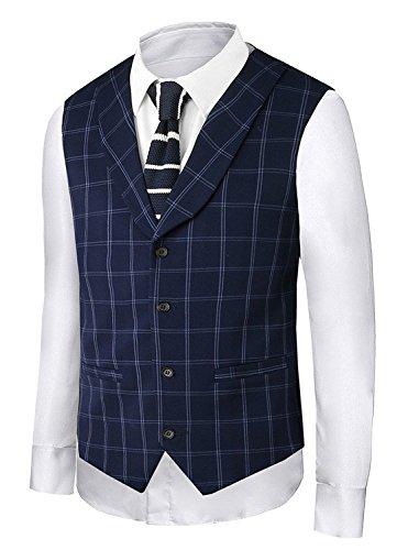 Hanayome Mens Fashion Business V-Neck Casual Slim Fit Suit Vest Plus Size Jacket SI2