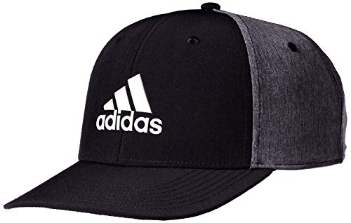 adidas Golf Men's A-Stretch Heather Tour Hat, Black, One Size