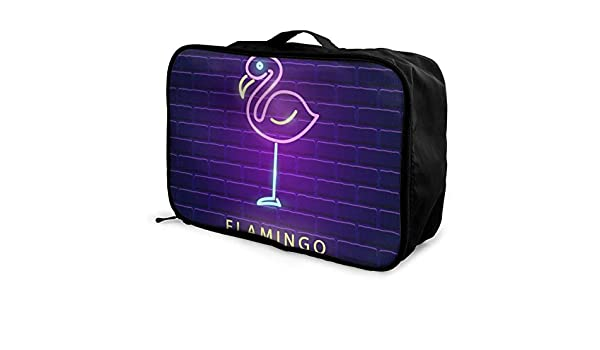 Yunshm Seamless Graphic Pattern Of Flamingos In Love Vector Image Trolley Handbag Waterproof Unisex Large Capacity For Business Travel Storage