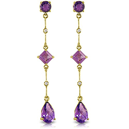 Gold Chandelier Earrings Diamond Amethyst ()