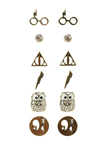 Potter Harry Wardrobe - Harry Potter Symbols Earrings, Set of 6 Pairs