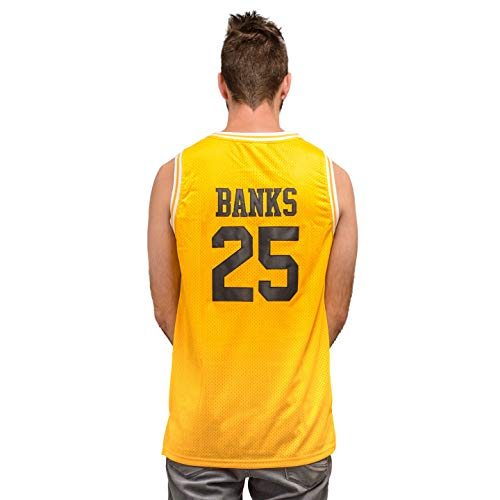 Costume Agent Bel Air Basketball Jersey Banks Gold/Yellow #25 (Adult -