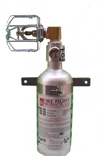 Fire Fight Products - SS30-90-CAG 90 Degree Small-Format Automatic Release Fire Suppression Automatic Fire Extinguisher