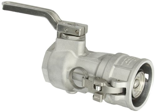 Dixon DBC61-200 Aluminum Dry Break Cam and Groove Dry Disconnect Hose Fitting, 2-1/2
