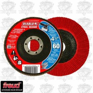 Dcx045060n01f Diablo Abrasive 4.5 Flap Disk 60g (Diablo Steel Demon Grinding And Polishing Flap Disc)