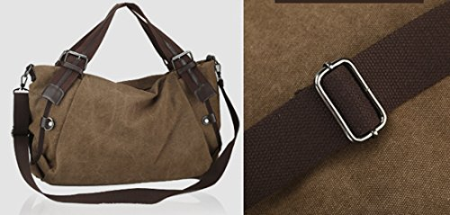 TM Unisex Black GOLD Crossbody Bag Canvas Hobo Large Top Capacity handle KISS SUAqw7nwx