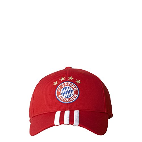 - adidas Adult Bayern Munich Strip Curved Cap