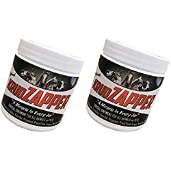 KrudZAPPER Natural Wound Care Ointment for Animals. 2-Jar Bundle. Amazing Healing Therapy for Wounds and Skin Conditions. Protects, Disinfects, Soothes. Safe for All Animals. Two, 8 oz. Jars.
