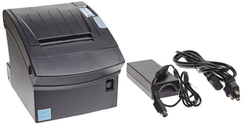 Bixolon SRP-350II Monochrome Desktop Direct Thermal Receipt Printer with Serial Interface, 7.87 in/s Print Speed, 180 dpi Print Resolution, 3