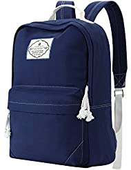 School Backpack,Bagerly Lightweight Canvas Book Bag for Women Daypack Laptop Bag