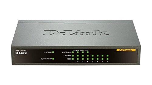 D-Link - DES-1008PA-KIT - 8port Unmanaged 10/100 Sw 4poe 802