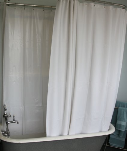 Amazon.com: Extra Wide Vinyl Shower Curtain for a Clawfoot Tub ...
