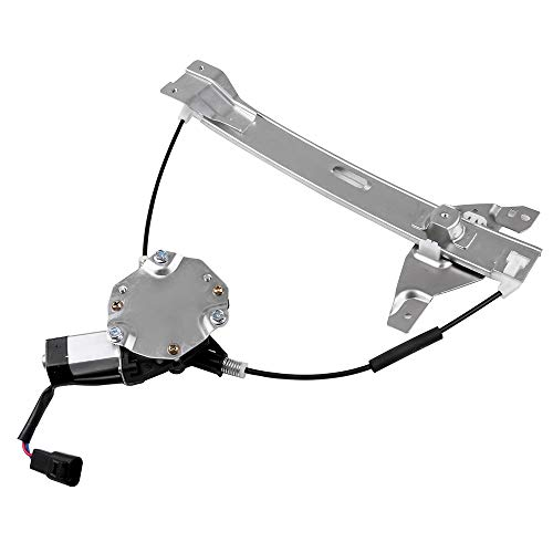 LUJUNTEC 748-510 Rear Left Drivers Side Replacement Power Window Regulator with Motor fit for 2006-2015 Chevy Impala 10338753 20927599 Chevy Impala Power Window Motor